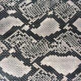 Snake Python Grain Synthétique PU Cuir pour Chaussures Sacs Hx-S1718