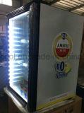 mini réfrigérateur de barre de la porte 100L en verre pour l'hôtel