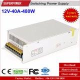 fuente de alimentación de la conmutación de 480W 12V 40A para la cámara del CCTV