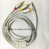 3.5mm StereoStop aan 3RCA de Kabel van de Stop, Kabel AV