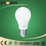 O diodo emissor de luz retardador o mais brilhante do corpo de Ctorch Um diodo emissor de luz 7W claro do bulbo da forma com Ce RoHS