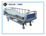 (A-37) Cama de hospital manual de función triple con la pista de la base del ABS