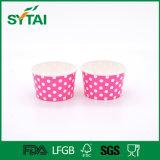 Бумажные стаканчики мороженного фабрики Китая с пластичной крышкой