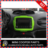 Ajuste central del estilo amarillo material del ABS del accesorio auto para el modelo renegado (1PC/SET)
