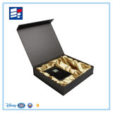 Rectángulo de empaquetado modelo de lujo de encargo del libro de papel para la ropa