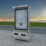 Le double de modèle le plus neuf a dégrossi cadre léger solaire de la publicité extérieure