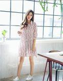 Robe de chemise de dames de piste de V-Collet de mode d'été