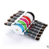 Portable 2 en 1 cable del USB del cable del cargador del teléfono móvil para el iPhone y el androide