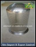 Filtro de cartucho de malha perfurada de aço inoxidável, filtro de malha de arame