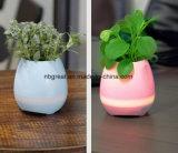 Potenciômetro de flor da música do diodo emissor de luz esperto do altofalante e do Flowpot 2in1 de Bluetooth