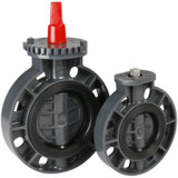Válvula Borboleta PVC JIS padrão 10k