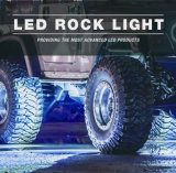 Indicatore luminoso della roccia del LED, indicatore luminoso posteriore dell'indicatore luminoso LED della roccia del LED RGB per l'insieme dell'indicatore luminoso della jeep 4 dell'automobile, un insieme dei 6 indicatori luminosi, un insieme dei 8 indicatori luminosi, 12 indicatore luminoso LED stabilito all'interno dell'indicatore luminoso dell'automobile con controllo di Bluetooth