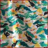 Pelle variopinta della pesca stampata uccello di Toucan Microfiber