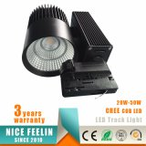 Super Bright 50W / 40W / 30W / 20W CREE COB LED Track Shop Light com Ce RoHS
