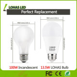 Bombilla de la hora solar 5000k A19 13W 13.5W 15W LED del bulbo del LED para el hogar