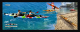 Ganador de la venta caliente doble plástica persona que se sientan en el Océano Barco
