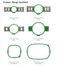 12 그리고 15의 색깔은 교차하는 스티치를 위한 헤드에 의하여 전산화된 모자 자수 기계를 골라낸다