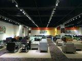 Sofa moderne populaire de cuir de bureau de présidence d'hôtel avec le bâti inoxidable en stock 1+1+3