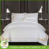 Re Size Hotel Bedding Set bianca su ordinazione del poliestere