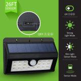 옥외 점화는 20 LED PIR 운동 측정기 빛, 빛 Control+Dim 가벼운 옥외 정원 빛 태양 벽 램프를 방수 처리한다