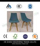 Pied de présidence en bois solide d'art de tissu - bleu-clair