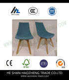 Piede della presidenza di legno solido di arte del panno Hzpc160 - blu-chiaro