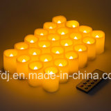 Más duradero] Funciona con pilas sin llama LED parpadeantes velas votivas