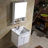 ミラーのキャビネットが付いている完全で白い壁に取り付けられた浴室用キャビネット
