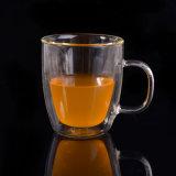 耐熱性二重壁のガラスマグのコーヒーカップ
