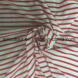 tela listrada do Aop de 88%Polyester 12%Spandex para o Swimwear