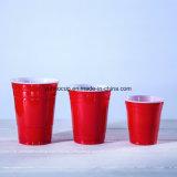 熱い販売16oz使い捨て可能なPS赤いプラスチック党コップ