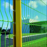 PVCが付いている電流を通された曲げられた塀のパネルは塗った