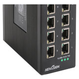 Interruptor industrial Unmanaged de Dinrail de Ethernet de 12 accesos