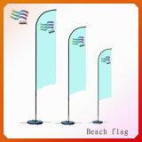 Bandierine di spiaggia della piuma con la base trasversale del punto e del Palo