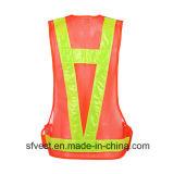 Rivestimento d'avvertimento di alta di visibilità LED di sicurezza stradale dei rivestimenti della maglia LED del panciotto sicurezza arancione di nylon a pile riflettente della maglia