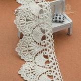 Vente en gros 100% de vente de prix usine de bande de bande de garniture de lacet de coton pour des vêtements