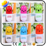 Papeterie créative Cute Expression Pill Telescopic Capsule Pen