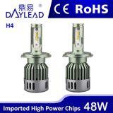 Hi/Lo 광속을%s 가진 방수 48W 4800lm H4 Ledheadlamp