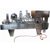 Aluminiumfolie-Cup-füllende Dichtungs-Maschine