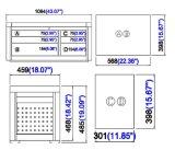 44 caixa superior da gaveta da polegada 6; Gabinete de ferramenta