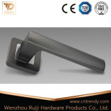 Novo estilo Matt Satin Black Aluminium Door Lock Handle Set