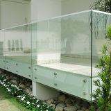 Inferriata calda di disegno moderno di vendita con la balaustra di vetro della scala di Frameless del contrappeso