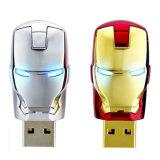 USB homem do ferro de 2.0 bastante Avengers da movimentação da pena do flash da vara da memória