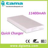 QC2.0 cargador rápido 11400mAh caja portable de la aleación de Powerbank y de aluminio
