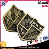 Da cor macia do ouro do metal do logotipo do esmalte da fábrica de China etiqueta feita sob encomenda do saco
