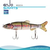 Esca di nuotata di richiamo di pesca dell'esca del multi sale duro congiunto di 4 della sezione realistica richiami di pesca & di pesce d'acqua dolce (MS0216)