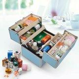 O alumínio Lockable Multi-Functional compo a caixa para o armazenamento cosmético da jóia
