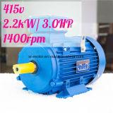 1.5kw 2HP 2800rpm 샤프트 24mm 전동기 삼상 415V 공기 압축기