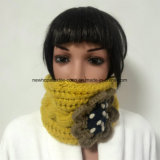 2 в 1 100% Исландия Шерсть, Ручная работа Мода Crocheted 2 в 1 Шляпы и головная повязка с цветком Patch