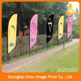 Kundenspezifische Farben-Sublimation-Polyester-Fliegen-Markierungsfahne für Rasen und Garten (JTAMY-2015120506)